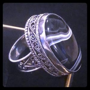 Agate 925 Silver Ring